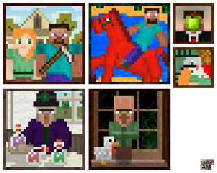 Minecraft Paintings by Translayer