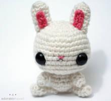 White Bunny Amigurumi by adorablykawaii