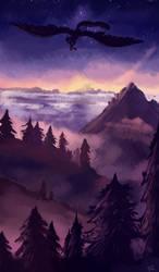 .:purple mountains:. by NaylaUkuro