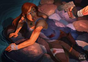 Tomb Raider 2013 Lara in Danger final by LexiGold