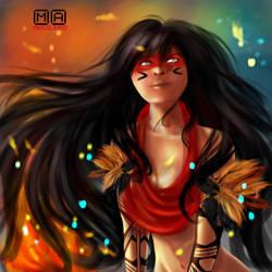 Brazilian Indian Girl by Hamandha