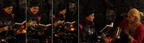 Cassandra Reads by SmokingCockatoo