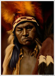 Cayuse Warrior by wendelin