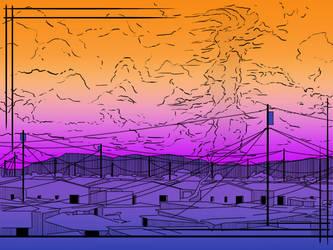 Girl in the sky illustrated by Tark3355