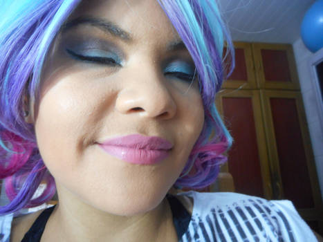 Blue and pink makeup by Cancerious4