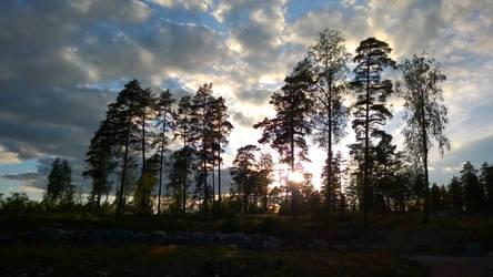 Finnish sunset by Fukuchan-Ryoko