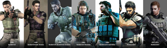 Chris Redfield - Then and Now by Kc-Eazyworld