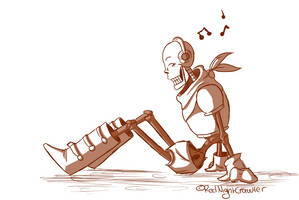 Payrus listens music by RedNightCrawler