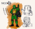 tmnt don and the puzzle box - Nicco by Dragona15