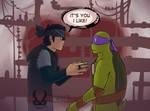 TMNT Jonatello - It's you I like by Dragona15