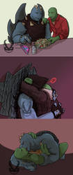 TMNT  Guns n Cookies doodles by Dragona15