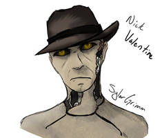 Nick Valentine Doodle by SylarGrimm