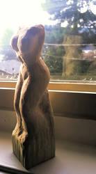 female wood carving by wanderingdaydream3r