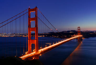Golden Gate Bridge At Twilight by LILYFlowerr