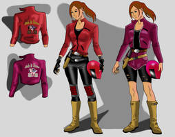 Claire Redfield RE2 Remake Alternative Designs by MattArtverse