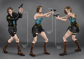 Jill Valentine RE3 Remake #2 Costume Transition by MattArtverse