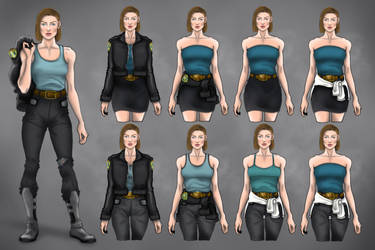 Jill Valentine RE3 Remake #3 Costume Variations by MattArtverse