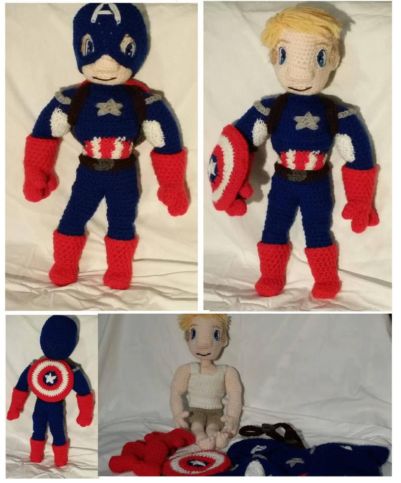 Captain America Crochet Doll By Phylpo On Deviantart
