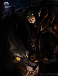 Thormagon - Blood  Elf Hunter by peachiekeenie