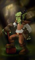 Goblin...paladin by peachiekeenie