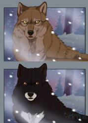 Real and Movie Balto + VIDEO by EmberWolfsArt