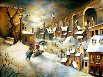 La Ville en hiver by felixgi
