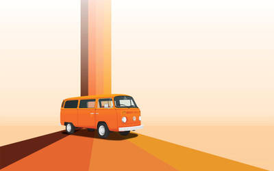 VW Bus - Wallpaper - 1680 by phat-jay