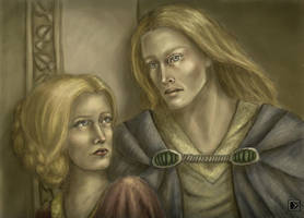 Galadriel and Finrod by Lena-Hyena