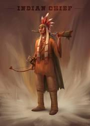 Indian Chief by PedroDeElizalde