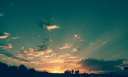 Vegas sunset by Raven-Fallington