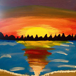 Do you like sunsets? (Painting) by Raven-Fallington