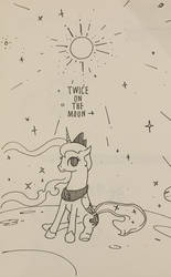 Luna on the moon by BlueDrg