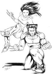 Wolverine/X-23 by Dannith