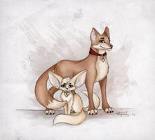Foxes from U.N.C.L.E. by Keila-the-fawncat