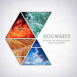 Hogwarts - Four elements by Keila-the-fawncat