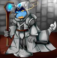 Grey Mage Dragon by FanDragonBrigitha