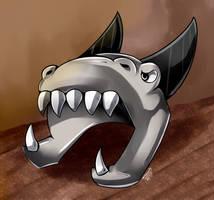 Metal Helmet Dragon by FanDragonBrigitha