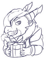 Sketch Characters Thora from Merry Christmas by FanDragonBrigitha