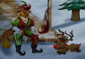 The Bard and Reindeer by FanDragonBrigitha