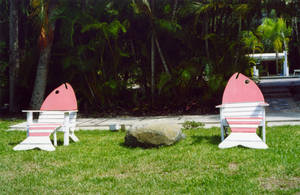 Sanibel Fish Beachchairs Stock by Limner-stock