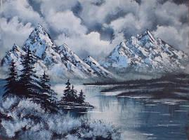 An Arctic Winter Day, Bob Ross by ArtbyAnnElin