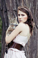 Girl with cat II by ladyang