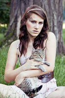 Girl with cat III by ladyang