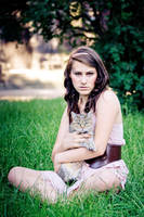 Girl with cat IV by ladyang