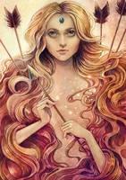Zodiac Stagittarius by Syllie
