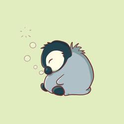 Sleepy baby penguin by Syllie