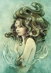 Zodiac Aquarius by Syllie