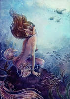siren of the coral reef by Syllie
