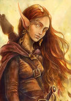 Eladrin autumn commission by Syllie