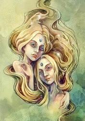 Zodiac Gemini by Syllie